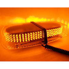 1Pc 240 LED Magnetic Amber Yellow Emergency Truck Strobe Flash Light Warning New