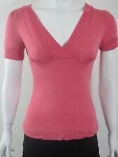 EASEL Pink Sexy Cross over front summer day blouse top shirt Sz S