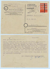 Germany 1963 #848 Music Watersport Postmark Postcard Cover Minden to Israel