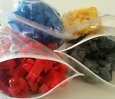 Grab a bag Lot of 10x New LEGO Magnet Brick 2x4 Red Yellow Blue Gray stand base