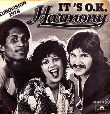 HARMONY (EUROVISION 1978)-IT´S O.K. + BIM BAM BOM SINGLE VINILO 1978 SPAIN