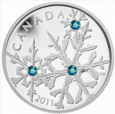 Canada 2011 Snowflake Blue Crystal 20 Dollars 1oz Silver Coin,Proof