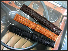 20mm Dark Brown Rally GT Sport Tropic Buffalo calf watch band IW SUISSE18-19-22