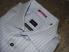 Paul Smith Man`s Dress Shirt 15 1/2-34 Blue Striped Long Sleeve London Made in I