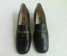 Bally Italian Leather Women's Shoes Pumps Loafers Black sz 8.5N