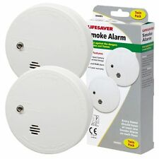 2 x Kidde i9040 Lifesaver Smoke Detector Fire Alarm Ionisation with 9V Battery