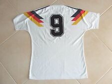Vintage Trikot Deutschland 1990 (M)#9 Völler DFB WM 90 Adidas Matchworn Jersey