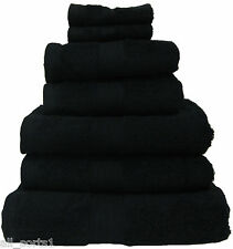 BLACK 100% EGYPTIAN COTTON LUXURY HOTEL HIGH QUALITY TOWELS 8 PIECE BALE SET
