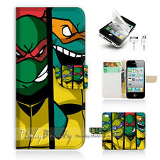iPhone 5 5S Print Flip Wallet Case Cover! Ninjia Turtle TMNT P1372