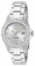 Invicta Women's Pro Diver Quartz 3 Hand Silver Dial Watch 15251