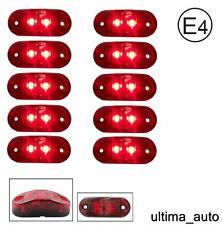 10 X 12V SMD 2 LED RED REAR SIDE MARKER LIGHT TRUCK TRAILER LORRY E-MARKED DOT