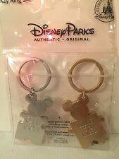 New Disney Parks Exclusive Mickey Minnie Mouse oh boy Puzzle Keychains