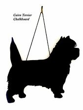 "Cairn Terrier Dog Gift - Unique 12"" Handmade Dog Breed shaped Chalkboard"