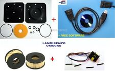 LPG/CNG LANDI RENZO 4 PCS: VERDAMPFER REPARATUR SATZ +INTERFACE+FILTER+PLUG