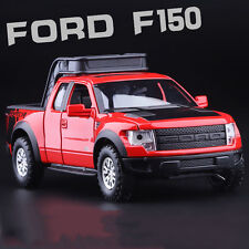 Red 1:32 Ford F-150 SVT RAPTOR Pick Up Diecast Truck Sound Light 4-Doors Open