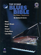 12 Bar Blues Bible For Piano Keyboards Learn to Play Riffs Jazz Music Book & CD