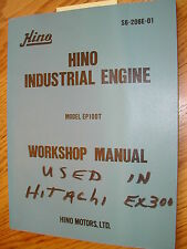 Hino EP100T WORKSHOP SERVICE REPAIR MANUAL ENGINE DIESEL OVERHAUL SHOP GUIDE
