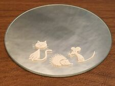 SWAROVSKI CAT/MOUSE/HEGEHOG MIRROR Ret. in 2003! No Box but EXQUISITE & PERFEC