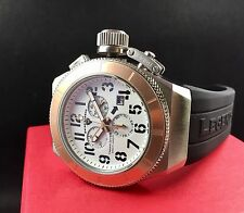 Swiss Legend TRIMIX 2.0 Swiss Chronograph Silver/Rose Watch Black Silicone NEW!