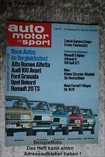 AMS Auto Motor Sport 26/77 Lancia Gamma Coupe Audi 100 Golf GTi