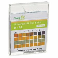 Water Alkaline pH Test Strips 100 Test Strips Check Water pH 0 - 14