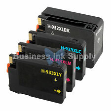 4 PACK NEW GENERIC 932XL 933XL for HP Printer HIGH YIELD + CHIP 932XL 933XL