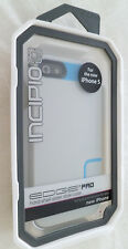 NEW Incipio Edge Pro Hard Shell Slider Case Cyan Gray for iPhone 5 Blue Grey