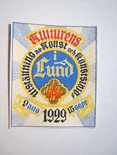 Lund Schweden 1929 Kulturens  Utställning av Konst och Konstslöjd / Reklamemarke