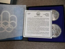 1976-Canada-Montreal-Olympic-Games-Proof-4) Coin Set Series IV (4) w/  BOX/COA
