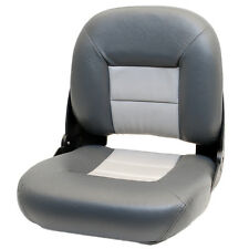 TEMPRESS GD CHARCOAL / GRAY DELUXE VINYL BOAT FOLDING FISHING SEATING SEAT