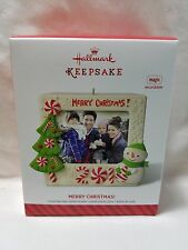 2014 Hallmark Keepsake Ornament Merry Christmas Recordable Picture Frame B34