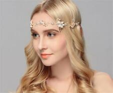 Crystal Bridal Headband Pearls Hair Halo Rhinestone Wedding Hair Vine 1 Piece