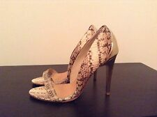 "Mark + James by Badgley Mischka ""Paris"" Snake Leather Stiletto - Size 6.5"