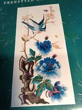 RARE ANCHOR Freestyle Embroidery Pe700 CHENG YANG FLORAL BIRD KIT Needlecraft