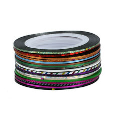 30Pcs Mixed Colors Rolls Striping Tape Line Nail Art Tips Decoration Sticker ED