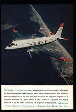 1962 GRUMMAN Gulfstream Private Corporation Airplane VINTAGE AD