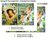 GEORGE OF THE JUNGLE PART 1 + 2 DOUBLE MOVIE COLLECTION Walt Disney Original New