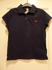 NWT JCrew Vintage Lobster Embroidered Critter Polo Short Sleeve Shirt Preppy S M