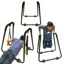 Home Gym Dip Stand Exercise Chest Tricep Rows w/ Straps Body Press Professional