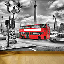 WALLPAPER LONDON BUS & TAXI UK WALL PAPER 300cm wide 240cm tall WMO043
