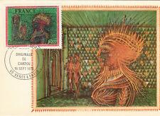 Carte 1er Jour VENCE 18/09/1976 CARZOU La Favorite timbrée