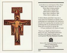 CATHOLIC HOLY CARD  LORD MAKE ME AN ISTRUMENT OF YOUR PEACE