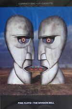 "40x60"" MASSIVE SUBWAY POSTER~Pink Floyd The Division Bell 1994 Original NOS Rare"