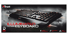 TRUST GXT280 GAMING SERIES UK LAYOUT KEYBOARD WITH 3 COLOUR LED ILLUMINATION
