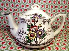 Art Nouveau VINTAGE China ALFRED MEAKIN Teapot MEDWAY DECOR Floral VERY RARE