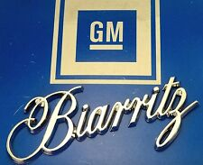 NEW BIARRITZ 79-85 CHROME TRUNK NOS EMBLEM 86-91 ORNAMENT E&G VOGUE WIRE WHEELS
