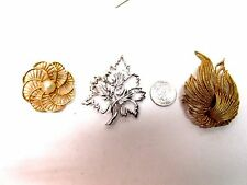 VINTAGE 3 PIECES MARKED COSTUME JEWELRY  EMMONS  TRIFARI  B.S.K.