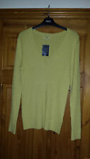 NEXT MUSTARD CABLE STYLE V NECK JUMPER UK 18 EURO 46 NEW WITH TAG
