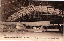 CPA CAMP du VALDAHON - Parc d'Aviation, Hangard et Avion (175816)