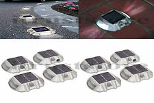 New 8 Pack Solar LED Pathway Driveway Lights Walkway Dock Path Step Decoration